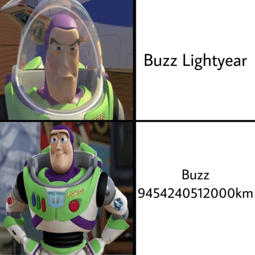 Buzz Lightyear: Buzz Lightyear  Buzz  |9454240512000km  SPACE RANGER GHTYEAR