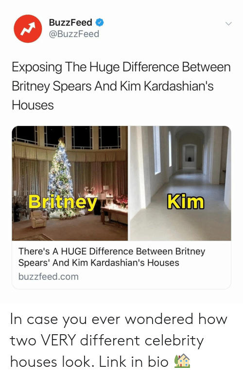 kim kardashians: BuzzFeed  @BuzzFeed  Exposing The Huge Difference Between  Britney Spears And Kim Kardashian's  Houses  im  There's A HUGE Difference Between Britney  Spears' And Kim Kardashian's Houses  buzzfeed.com In case you ever wondered how two VERY different celebrity houses look. Link in bio 🏡
