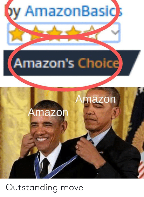 outstanding: by AmazonBasics  Amazon's Choice  Amazon  Amazon Outstanding move
