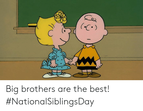 Memes, Best, and 🤖: .C Big brothers are the best! #NationalSiblingsDay