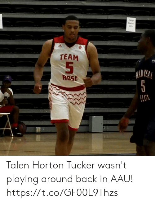Rad: C  Co  Oly  TEAM  RAD REAL  ROSE  ELIS Talen Horton Tucker wasn't playing around back in AAU! https://t.co/GF00L9Thzs