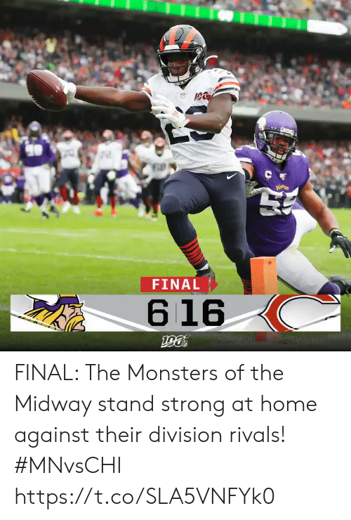 division: C  FINAL  616 FINAL: The Monsters of the Midway stand strong at home against their division rivals!  #MNvsCHI https://t.co/SLA5VNFYk0
