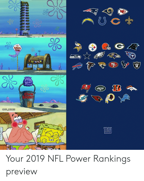 Preview: C  Jaries  THE  KRUSTY  JETS  CHOM  BUCKET  @NFL MEMES Your 2019 NFL Power Rankings preview