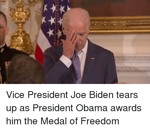 Medal Of Freedom: CA Vice President Joe Biden tears up as President Obama awards him the Medal of Freedom