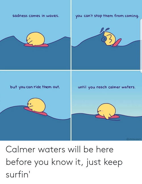 It Just: Calmer waters will be here before you know it, just keep surfin'
