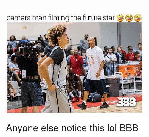 bbb: camera man filming the future star  3BB Anyone else notice this lol BBB