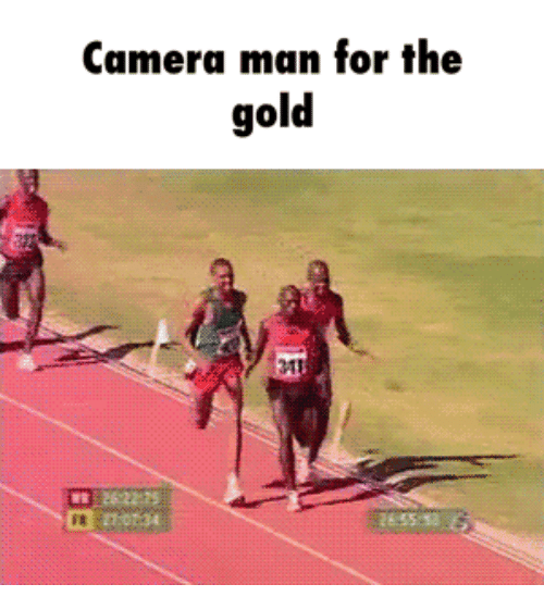 For The Gold: Camera man for the  gold  31  27:0134