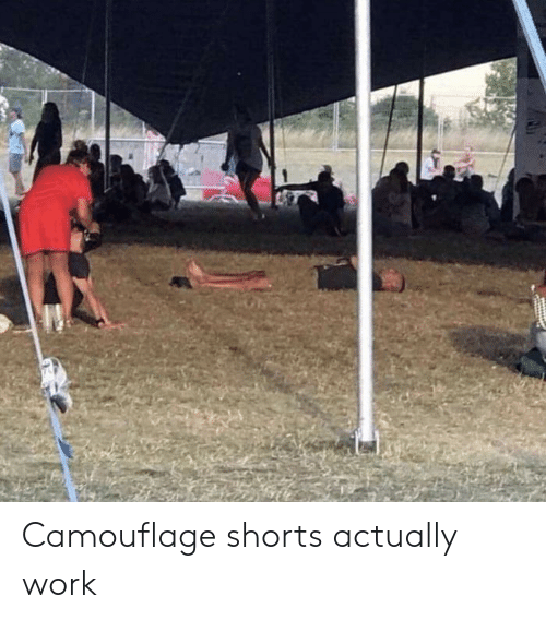 Shorts: Camouflage shorts actually work