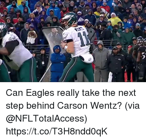 the next step: Can Eagles really take the next step behind Carson Wentz?  (via @NFLTotalAccess) https://t.co/T3H8ndd0qK