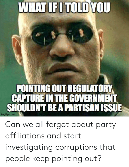 Party: Can we all forgot about party affiliations and start investigating corruptions that people keep pointing out?