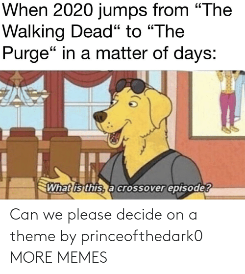 On A: Can we please decide on a theme by princeofthedark0 MORE MEMES