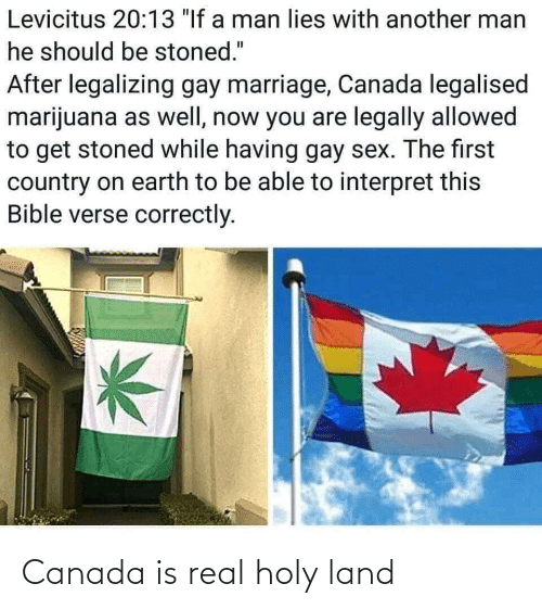 Land: Canada is real holy land