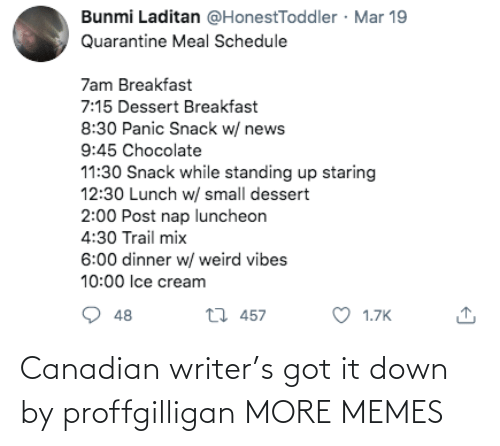 Writer: Canadian writer's got it down by proffgilligan MORE MEMES
