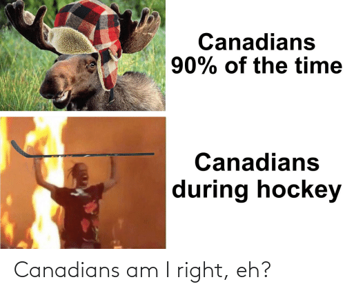 Canadians: Canadians am I right, eh?