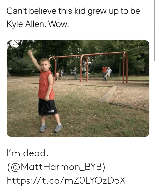 Football, Nfl, and Sports: Can't believe this kid grew up to be  Kyle Allen. Wow. I'm dead. (@MattHarmon_BYB) https://t.co/mZ0LYOzDoX