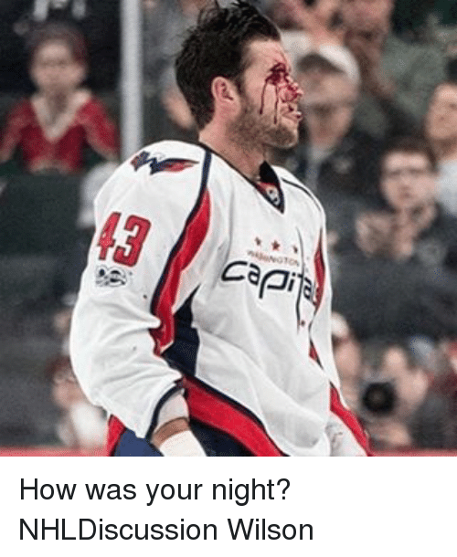 Capitalization: capit How was your night? NHLDiscussion Wilson
