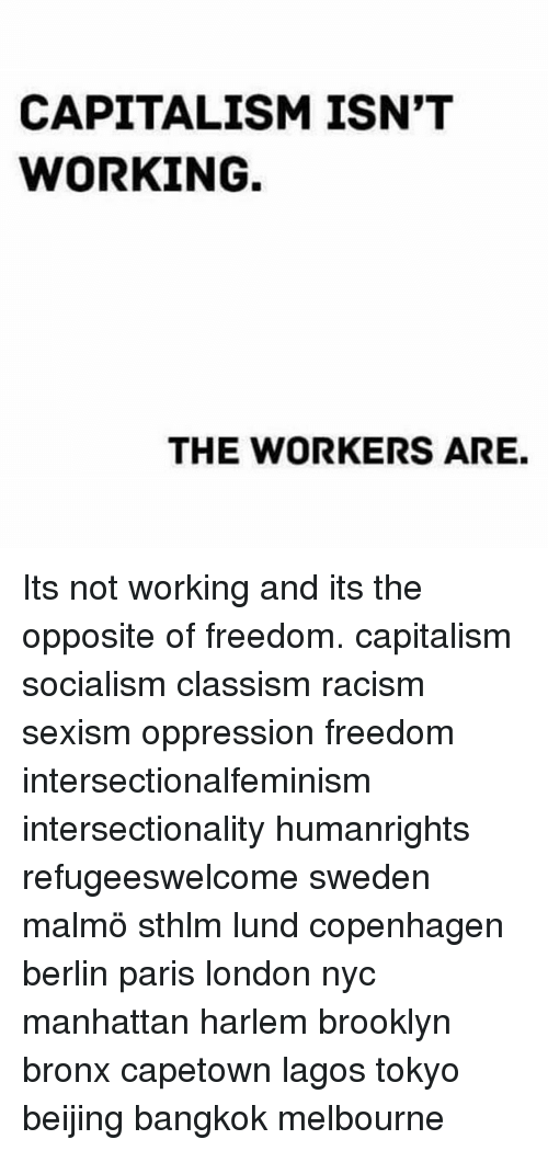 an analysis of the elements of capitalism racism and sexism in karenga