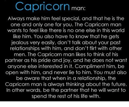 Capricorn Man Always Make Him Feel Special and That He Is the One