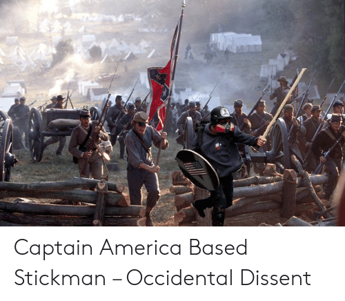 Occidental Dissent: Captain America Based Stickman – Occidental Dissent