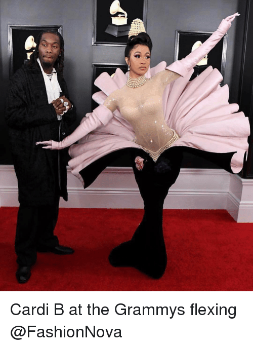 Grammys: Cardi B at the Grammys flexing @FashionNova