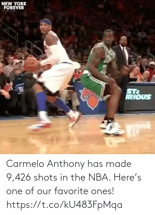 Anthony: Carmelo Anthony has made 9,426 shots in the NBA. Here's one of our favorite ones! https://t.co/kU483FpMqa