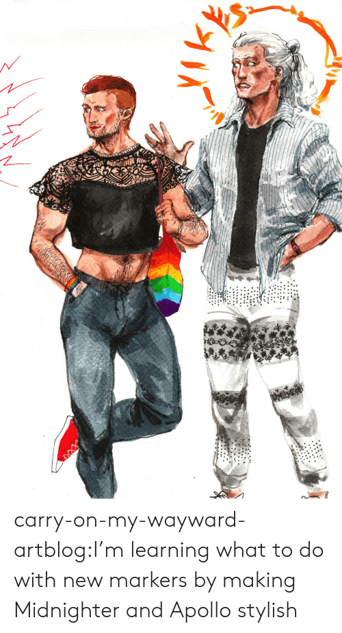Target, Tumblr, and Apollo: carry-on-my-wayward-artblog:I'm learning what to do with new markers by making Midnighter and Apollo stylish