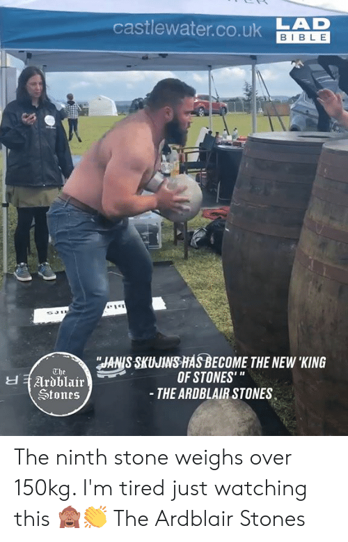 """Just Watching: castlewater.co.ukAD  BIBLE  JANIS SKUJINS HASBECOME THE NEW 'KING  OF STONES'""""  - THE ARDBLAIR STONES  The  Ardblair  Stones The ninth stone weighs over 150kg. I'm tired just watching this 🙈👏  The Ardblair Stones"""