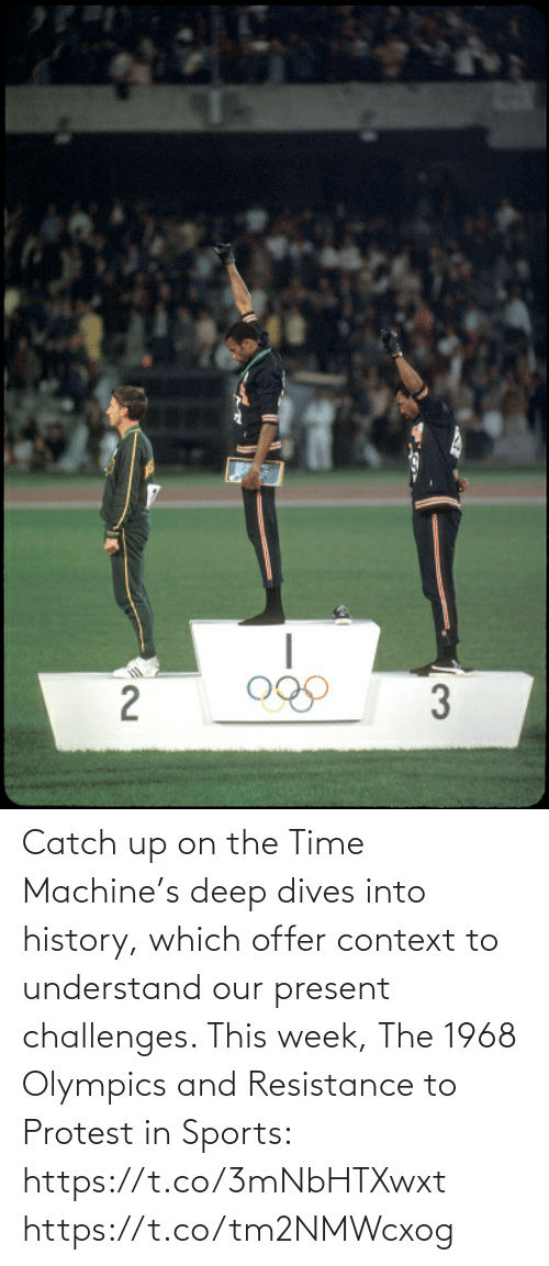 context: Catch up on the Time Machine's deep dives into history, which offer context to understand our present challenges. This week, The 1968 Olympics and Resistance to Protest in Sports: https://t.co/3mNbHTXwxt https://t.co/tm2NMWcxog