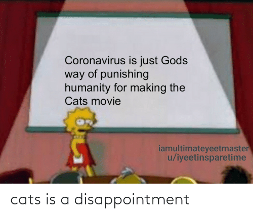 Cats, Disappointment, and Is A: cats is a disappointment