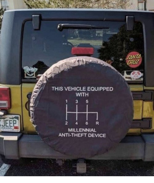 Theft: CAUZ  THIS VEHICLE EQUIPPED  WITH  JEEP  2 4 6R  MILLENNIAL  ANTI-THEFT DEVICE