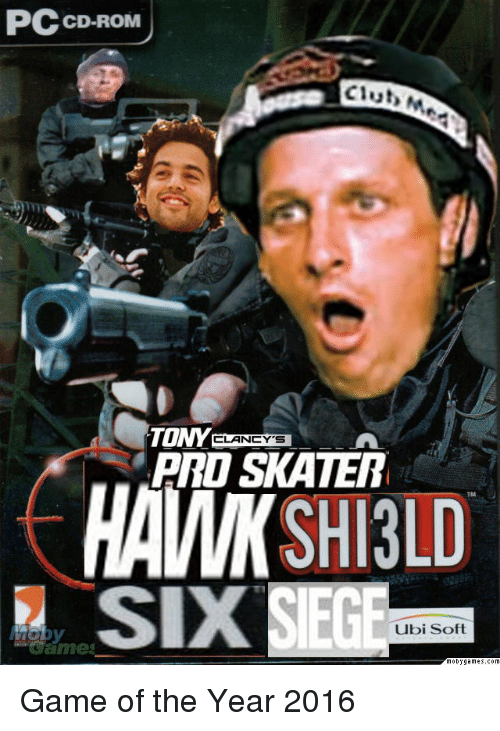 Game, Rom, and Cd Rom: CD-ROM  Clut  ARD SKATER  HAWK SHI3LD  SIX  TM  Ubi Soft  came <p>Game of the Year 2016</p>