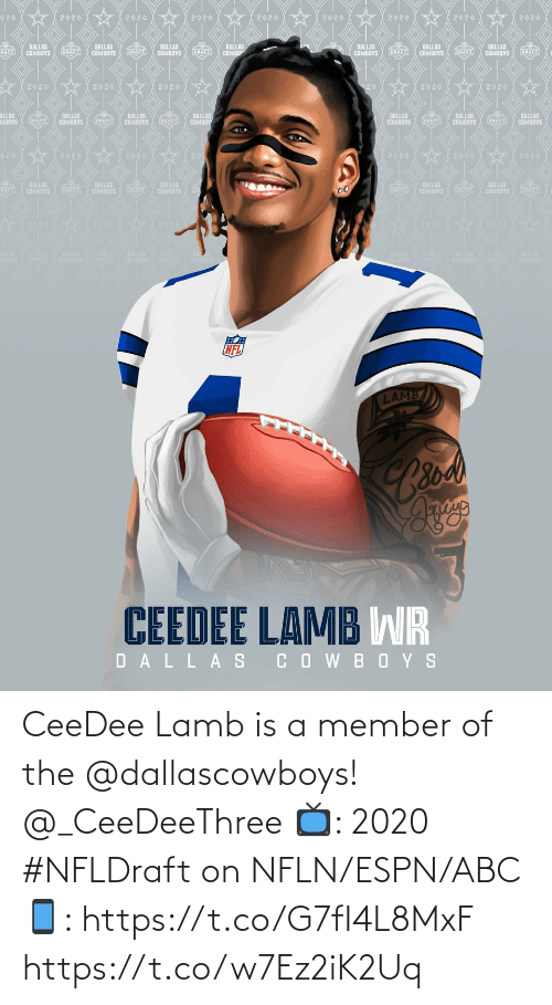 Dallascowboys: CeeDee Lamb is a member of the @dallascowboys! @_CeeDeeThree   📺: 2020 #NFLDraft on NFLN/ESPN/ABC 📱: https://t.co/G7fI4L8MxF https://t.co/w7Ez2iK2Uq