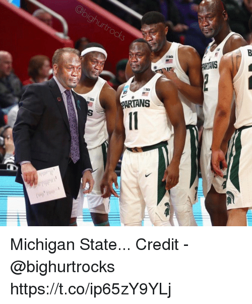 Michigan, Michigan State, and State: Ch  ARTANS Michigan State...  Credit - @bighurtrocks https://t.co/ip65zY9YLj