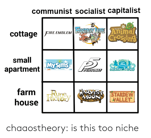 niche: chaaostheory:  is this too niche