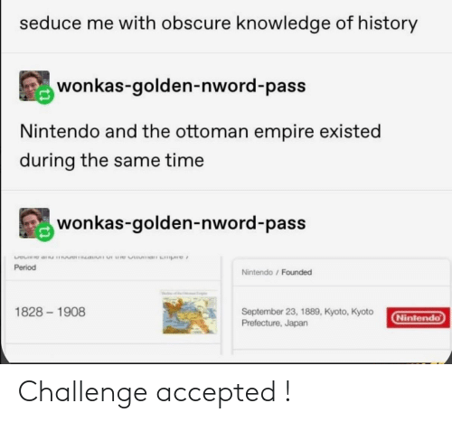 challenge: Challenge accepted !