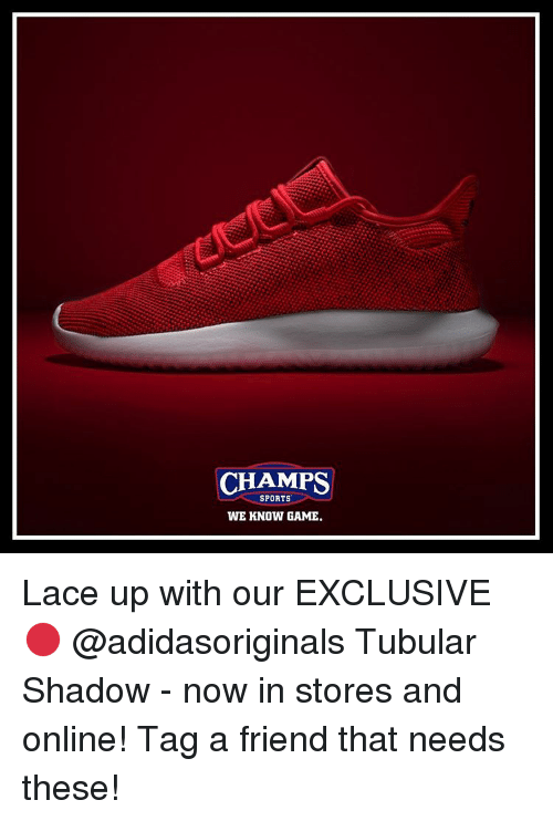 CHAMPS SPORTS Our WE KNOW GAME Lace Up With Our SPORTS EXCLUSIVE  Tubular 245fa6