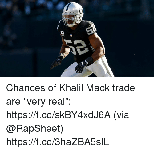 "Memes, 🤖, and Via: Chances of Khalil Mack trade are ""very real"": https://t.co/skBY4xdJ6A (via @RapSheet) https://t.co/3haZBA5sIL"