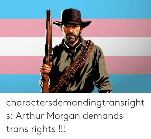 Arthur, Tumblr, and Blog: charactersdemandingtransrights:  Arthur Morgan demands trans rights !!!
