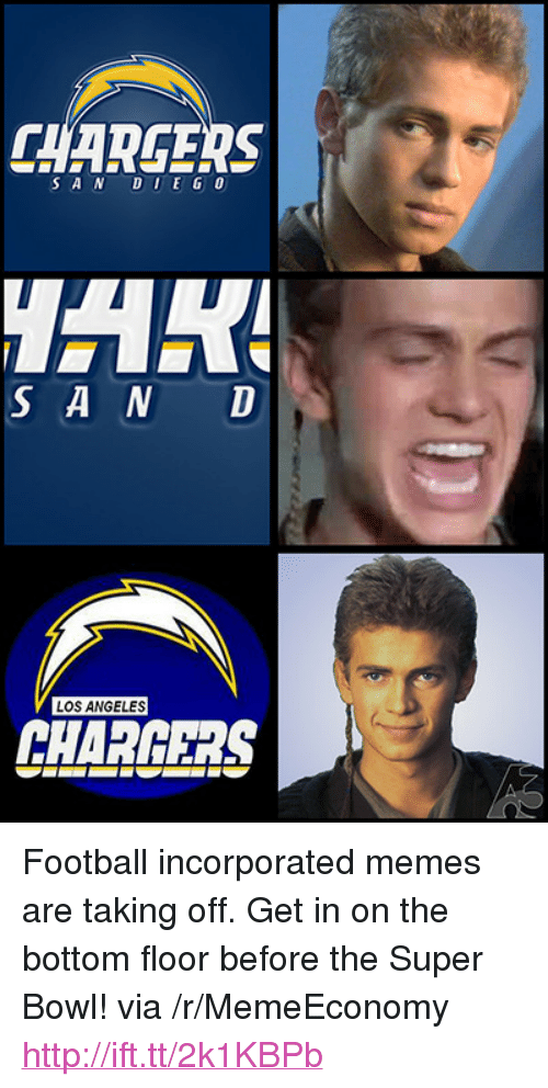 """Football, Memes, and Super Bowl: CHAREERS  SAN DUEG 0  S A N D  LOS ANGELES  CHARGERS <p>Football incorporated memes are taking off. Get in on the bottom floor before the Super Bowl! via /r/MemeEconomy <a href=""""http://ift.tt/2k1KBPb"""">http://ift.tt/2k1KBPb</a></p>"""