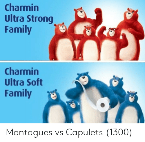 Strongly: Charmin  Ultra Strong  Family  Charmin  Ultra Soft  Family Montagues vs Capulets (1300)