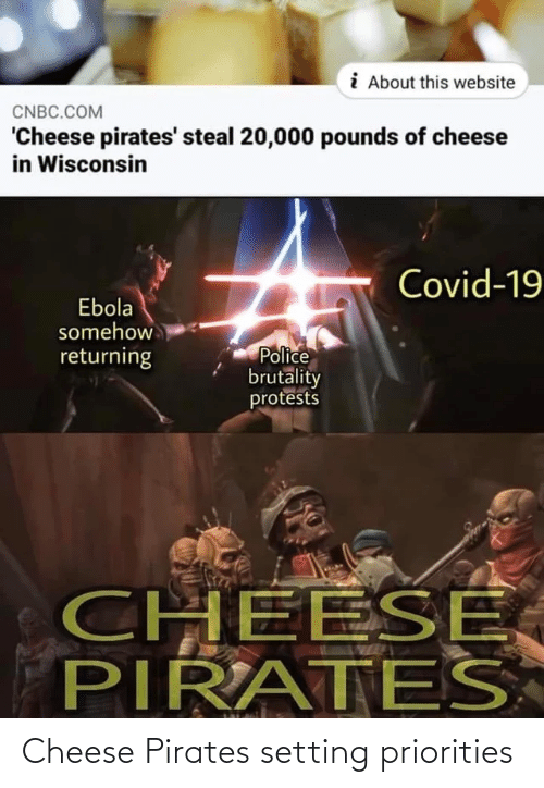 Pirates: Cheese Pirates setting priorities