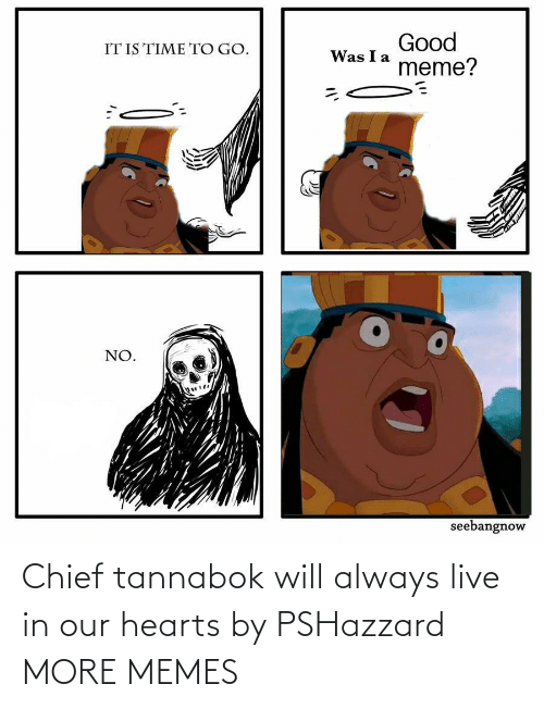 Will Always: Chief tannabok will always live in our hearts by PSHazzard MORE MEMES