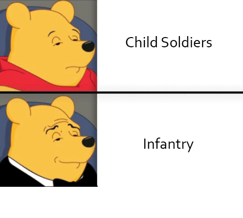 funny meme: Child Soldiers  Infantry Funny meme