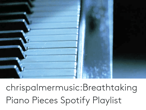 Piano: chrispalmermusic:Breathtaking Piano Pieces Spotify Playlist