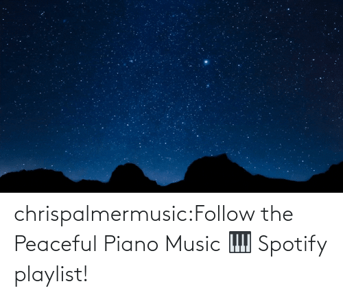 Piano: chrispalmermusic:Follow the Peaceful Piano Music 🎹 Spotify playlist!