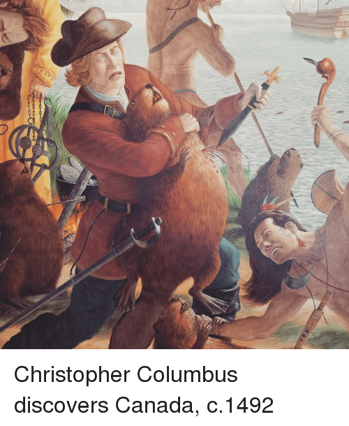 Canada, Christopher Columbus, and Columbus: Christopher Columbus discovers Canada, c.1492