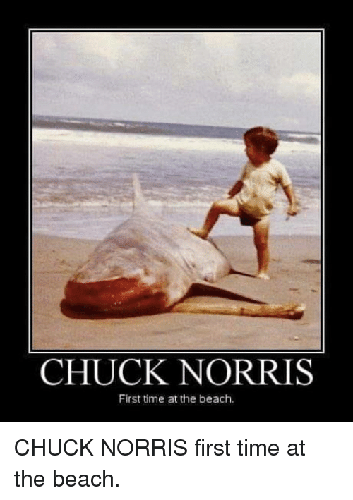 Chuck Norris: CHUCK NORRIS  First time at the beach. CHUCK NORRIS first time at the beach.