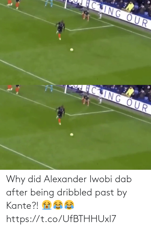Soccer, Dab, and Alexander: CING OUR   CING OUR Why did Alexander Iwobi dab after being dribbled past by Kante?! 😭😂😂 https://t.co/UfBTHHUxl7