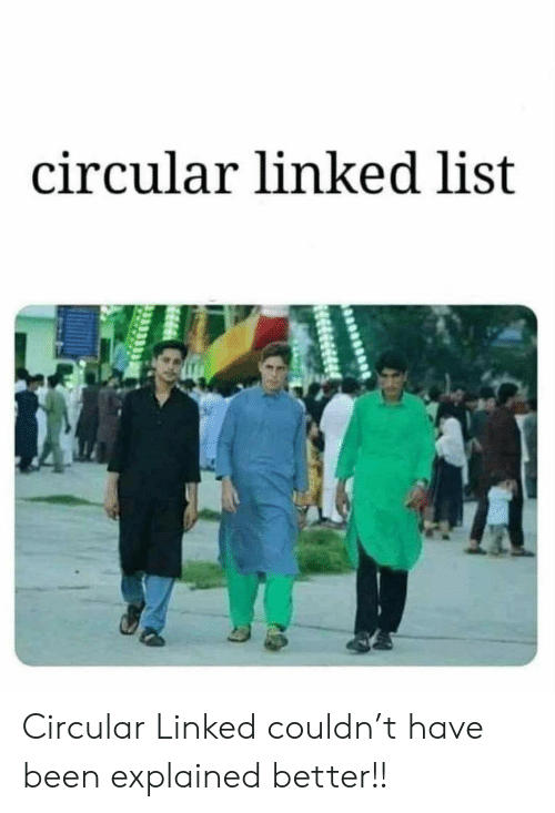 Been, List, and Linked List: circular linked list Circular Linked couldn't have been explained better!!
