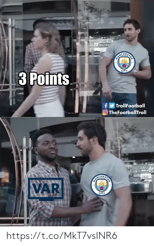 Memes, 🤖, and City: CIREHESHON  CITY  3 Points  TrollFootball  f  O TheFootballTroll  SERCEHRCN  VAR  CITY https://t.co/MkT7vsINR6